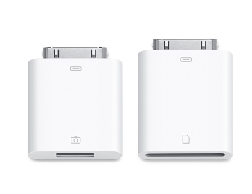 Adaptadores cámara para iPad