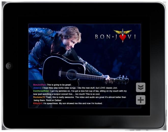 Concierto Bon Jovi en el iPad