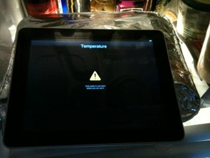 calentamiento del iPad