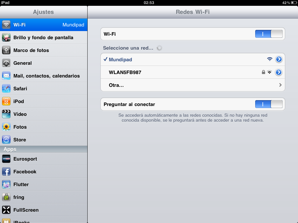 iPad via WiFi