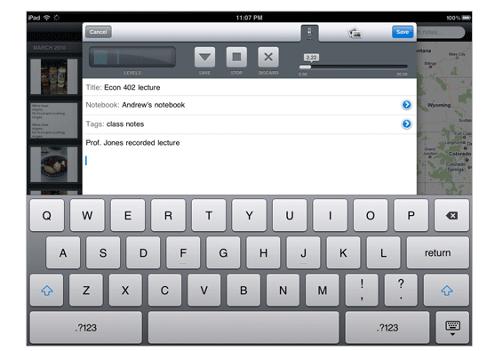 ipad-newnote Evernote