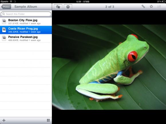 Dropbox iPad 2