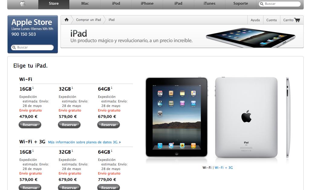 Reserva iPad 1