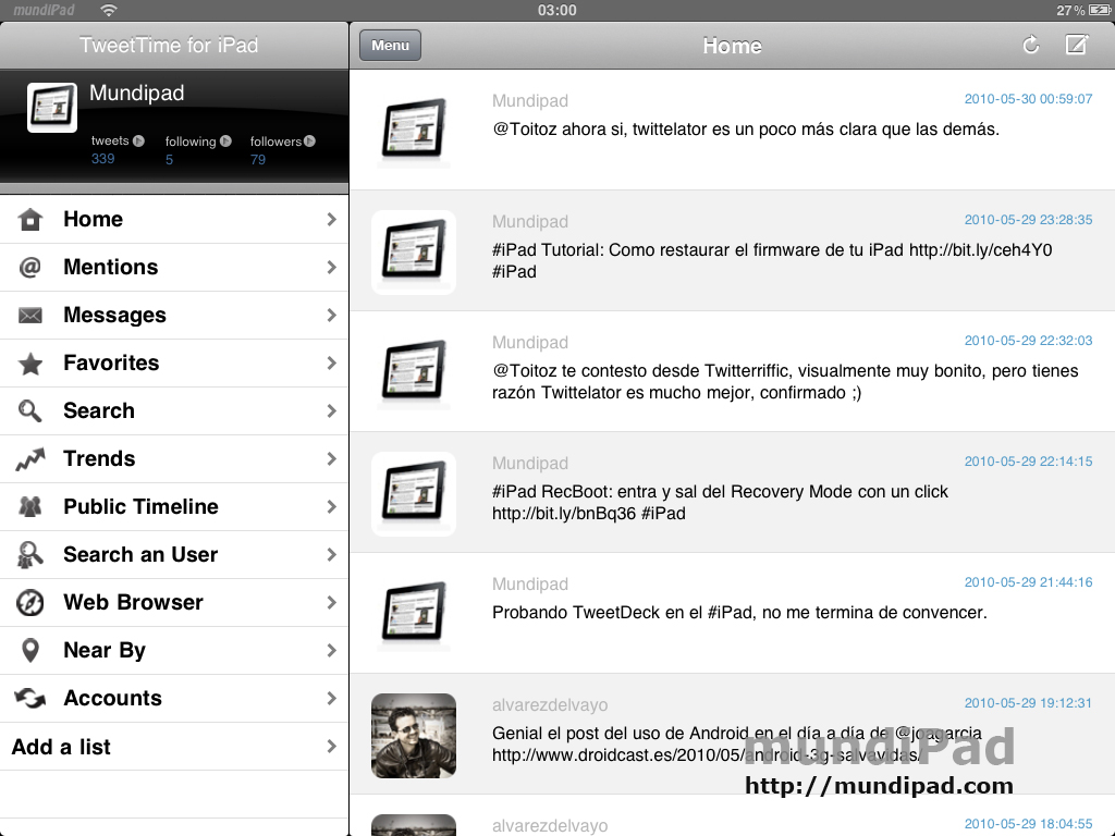 TweetTime-iPad2