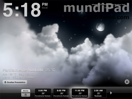 Weather HD para iPad