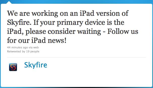 Skyfire para iPad 2