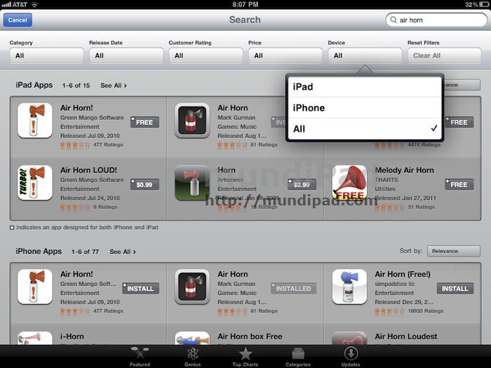App Store iPad 1