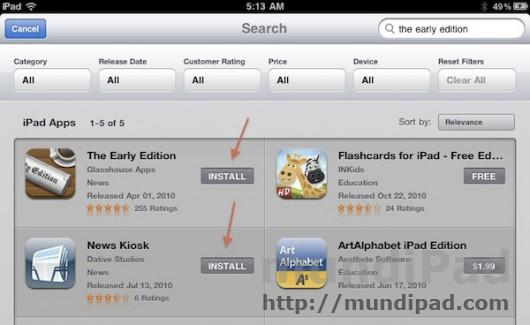 App Store iPad 2