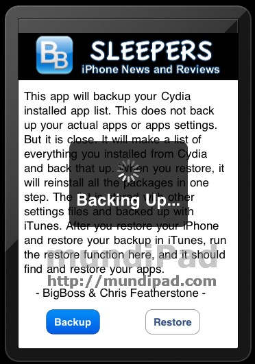 AptBackup app
