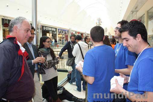 Lanzamiento del iPad 2 en Madrid.