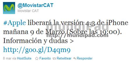 Tweet movistarCAT
