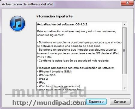 novedades iOS 4.3.2