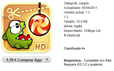 Cut the Rope itunes