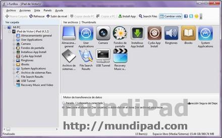 pantalla principal ifunbox
