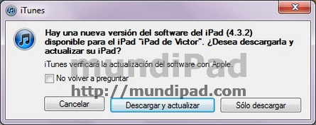 actualización iOS 4.3.2