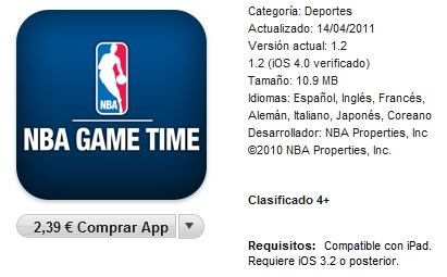 NBA Game Time iTunes