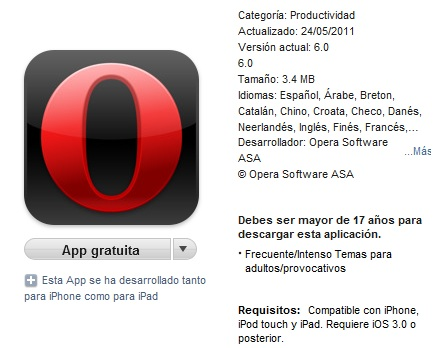 Opera iTunes