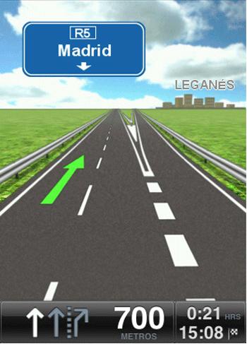 TomTom iPad carretera
