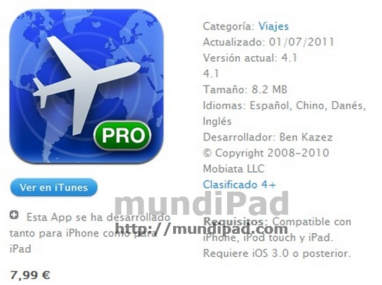 Flight track Pro iPad itunes