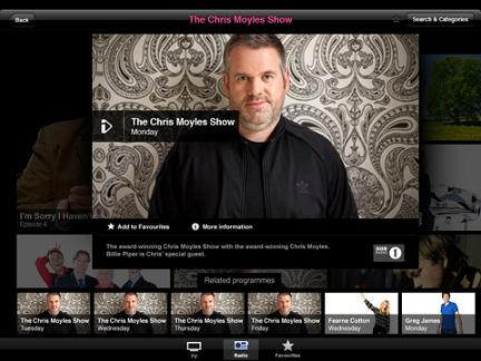 Captura de pantalla de iPlayer