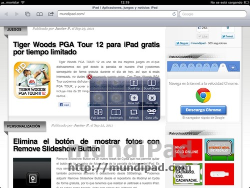 ActionsPop FullScreen for iPad