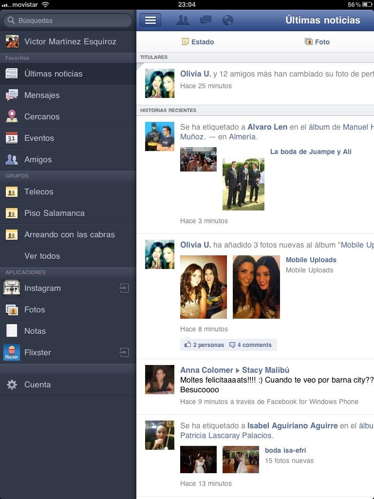 Captura de pantalla de Aplicación de Facebook