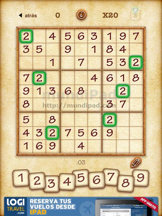 Sudoku para iPad