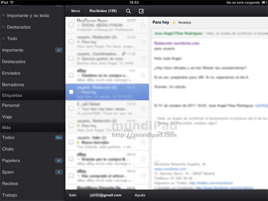 app gmail ipad