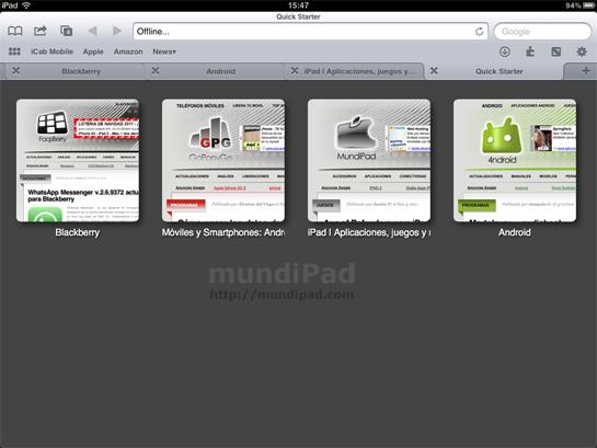 icab browser para ipad