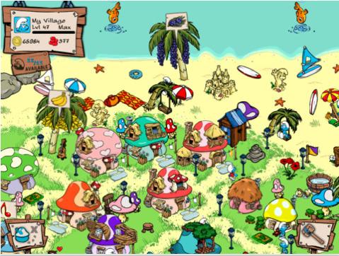 Smurfs Village para iPad: todo sobre el juego de los pitufos