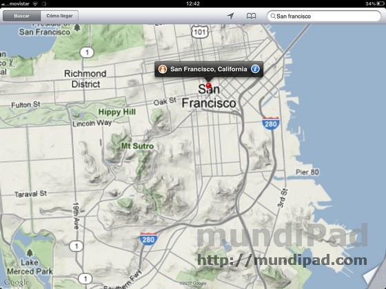 Nuevos mapas 3d en google maps para ipad con los rumores de que apple est preparando una aplicacin de mapas propia con lo que la actual aplicacin de google pasara a segundo plano gumiabroncs Image collections