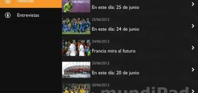 Videos eurocopa ipad