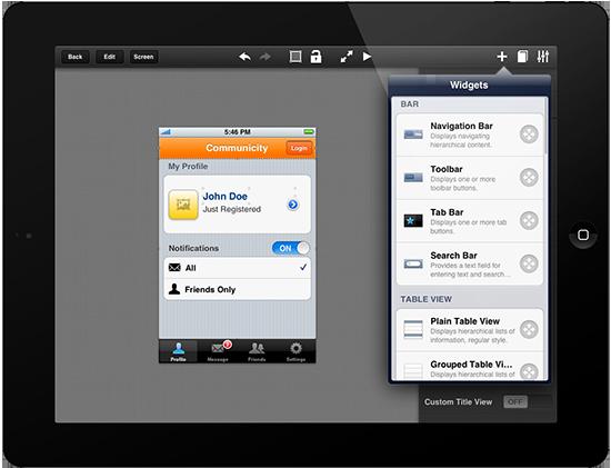 Crea prototipos de tus aplicaciones para iOS desde el iPad con Interface 2