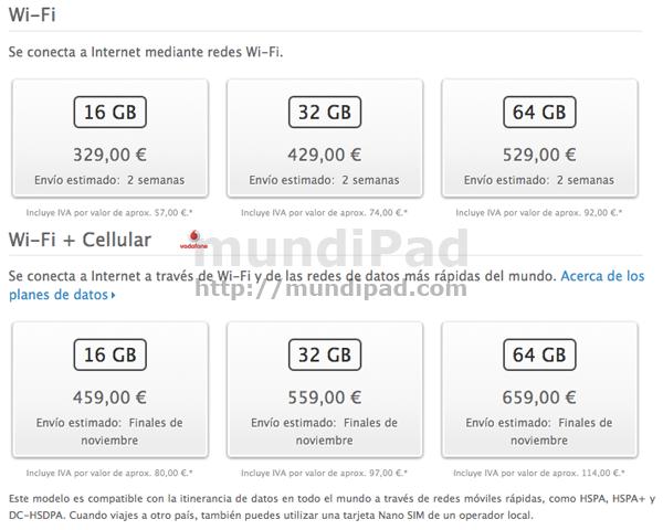 Precios iPad Mini