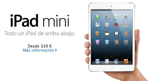 Precios del nuevo iPad mini de Apple