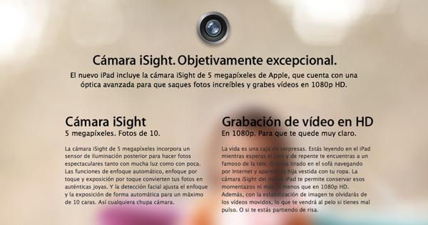 iPad 4ª generación: Características técnicas