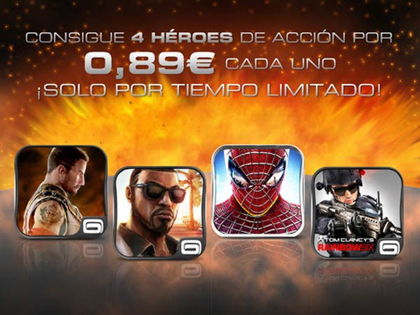 Ofertas de Gameloft para iPad
