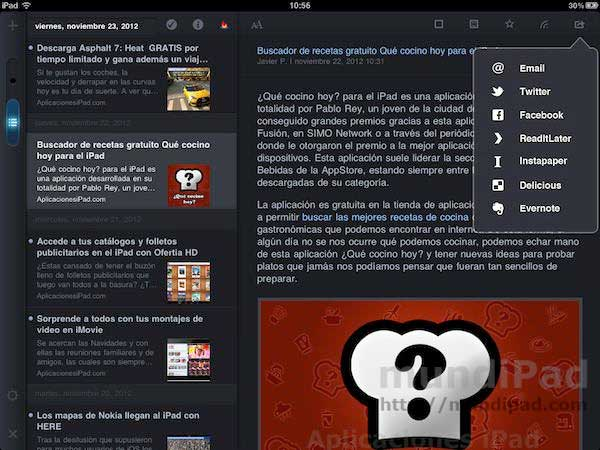 MobileRSS HD para iPad