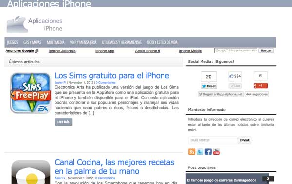 Nueva web en bemoob: AplicacionesiPhone.net