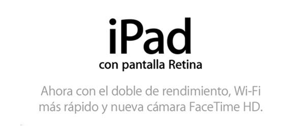Nuevo iPad de cuarta generación