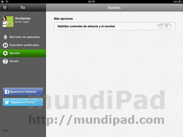 Spreaker Dj para iPad
