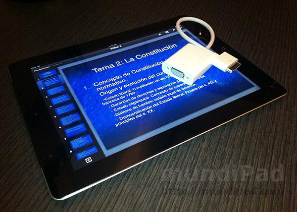 Un iPad en la universidad: hacer presentaciones con el iPad
