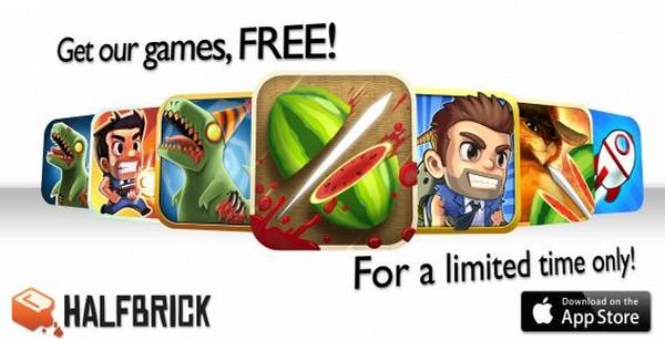 Todos los juegos de Halfbrick gratis durante el día de hoy