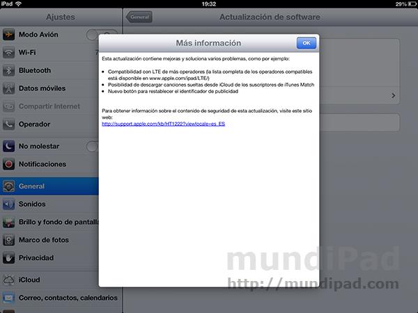 Apple acaba de lanzar iOS 6.1 para iPad