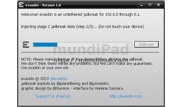 Tutorial del Jailbreak del iPad con iOS 6.0 o 6.1 con evasi0n