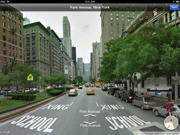 Street View para iPad