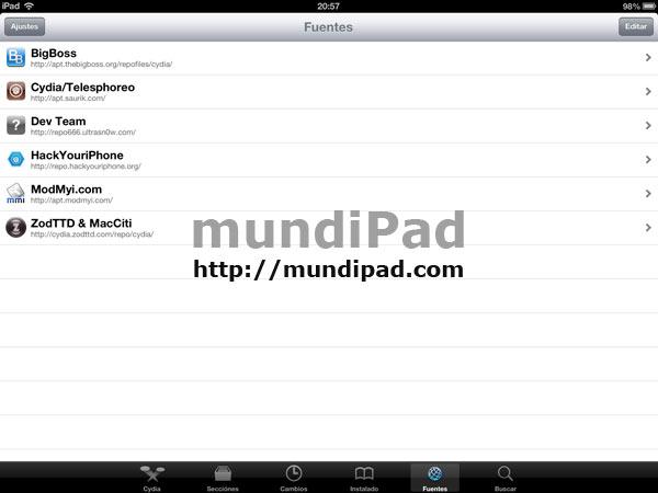 Los mejores repositorios de Cydia para el iPad