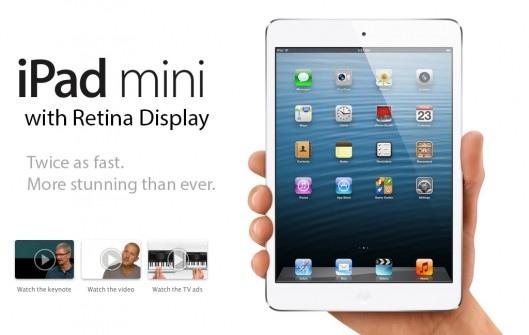 Posible iPad mini retina en el segundo semestre de 2013