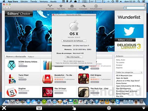 OS X Mountain Lion en un iPad