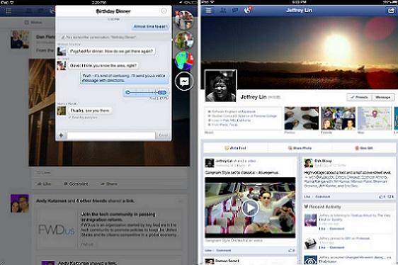 Facebook Home se acerca al iPad con la actualización de Facebook 6.0